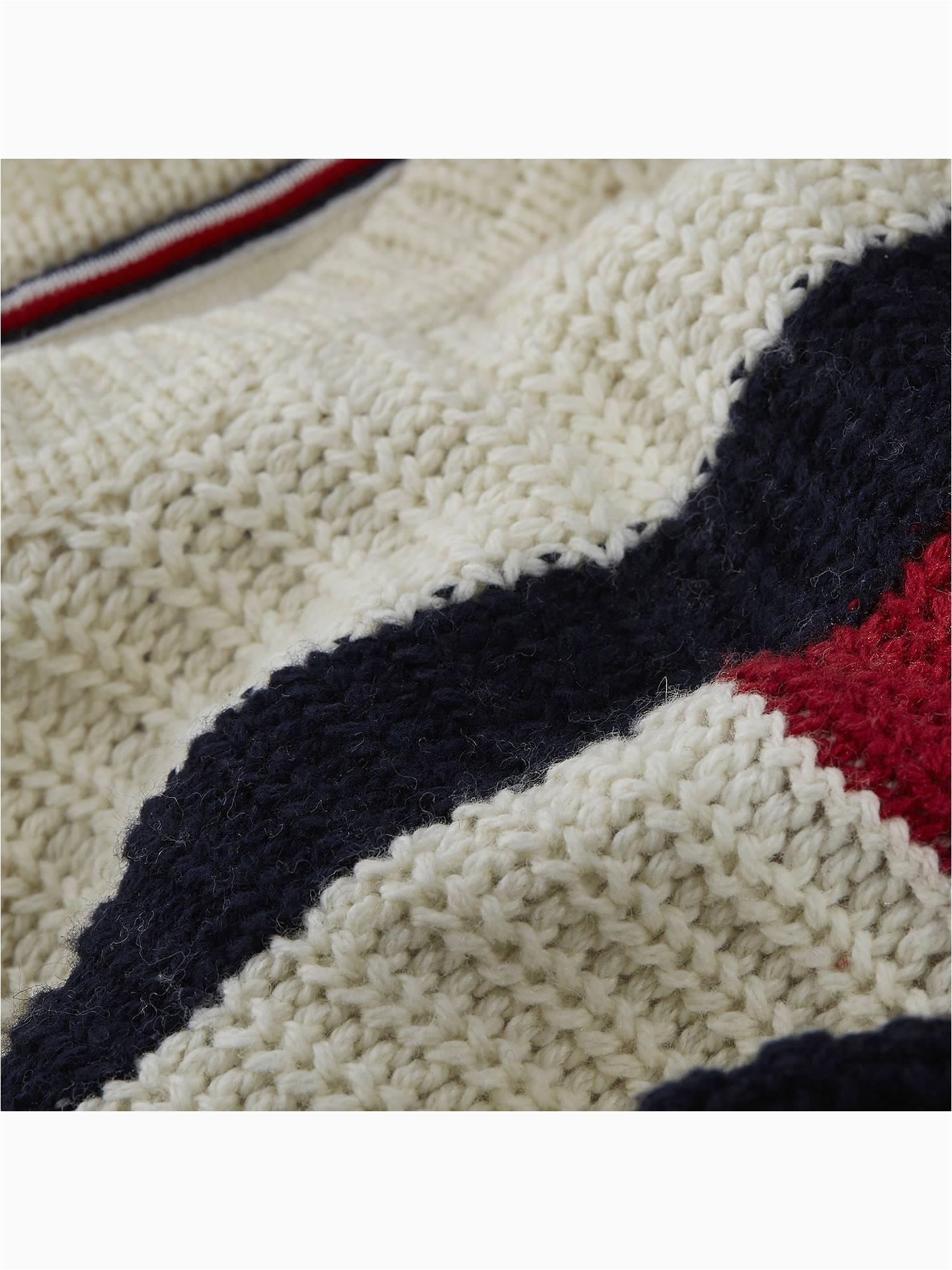 Tommy Hilfiger White Bath Rug tommy Hilfiger Boys Flag Sweater White at John Lewis