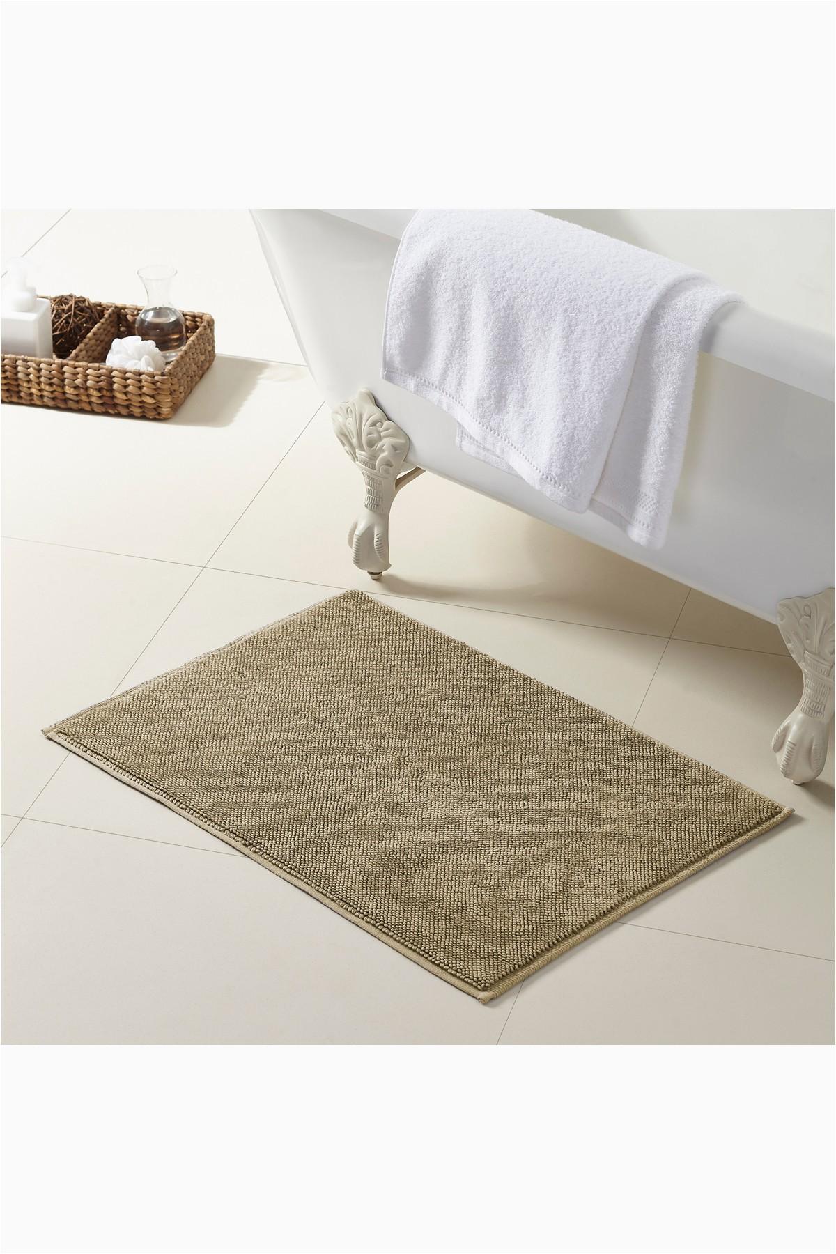 Turkish Cotton Bath Rugs Modern Threads Turkish Cotton Reversible Bath Rug Oatmeal