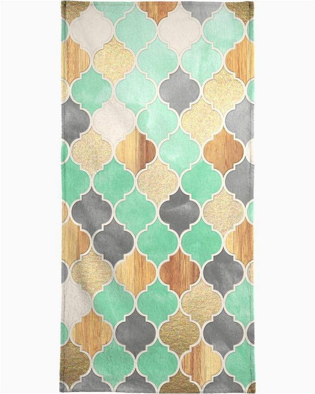 Textured Moroccan Pattern Micklyn Le Feuvre Hand Bath Towel