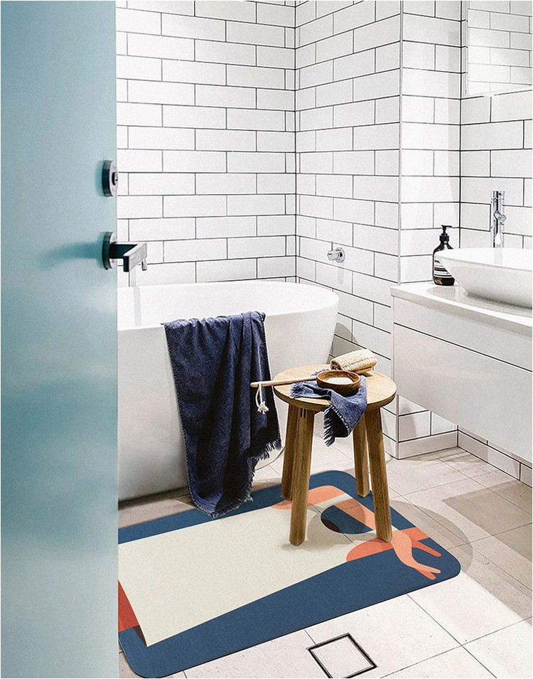 Ultra Thin Bath Rug Us $18 37 Off Ultra Thin Bathroom Rug nordic Felt Funny Carpet area Rugs Bath Room Rug Kitchen Floor Mats Doormat Chic Home Fice Decor Rug
