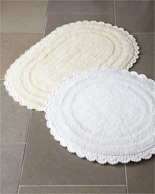 Vera Wang Bath Rug Diamond Cobra Trading Crochet Border Bath Rugs & Matching Items