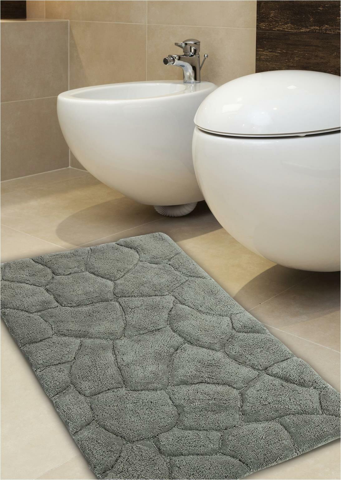 Vera Wang Bath Rug Diamond Troxell Stone Designer Plush Bath Rug
