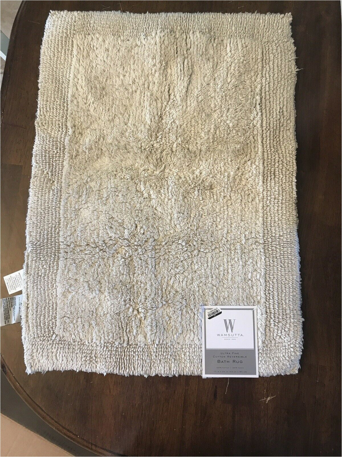 Wamsutta Bath Rug Colors Wamsutta Ultra Fine Cotton Reversible Bath Rug 17inx24in