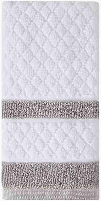 Wamsutta Luxury Border Bath Rug Amazon Wamsutta Hotel Border Fingertip towel In Grey