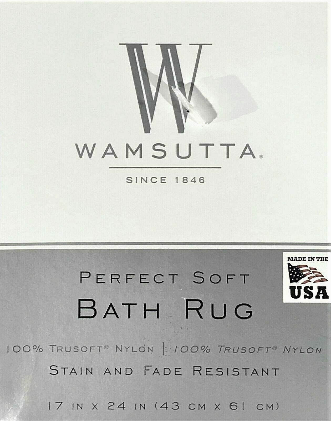 """Wamsutta Luxury Border Bath Rug New Wamsutta Luxury Perfect soft Bath Rug 24"""" X 60"""" In Charcoal"""