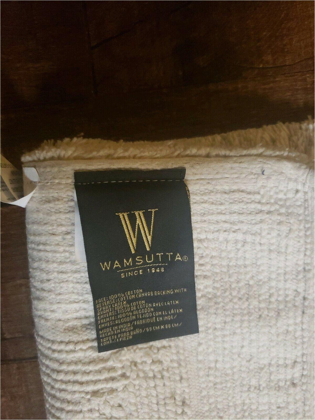 Wamsutta Luxury Border Bath Rug Wamsutta Luxury 21 Inch X 34 Inch Border Plush Microcotton