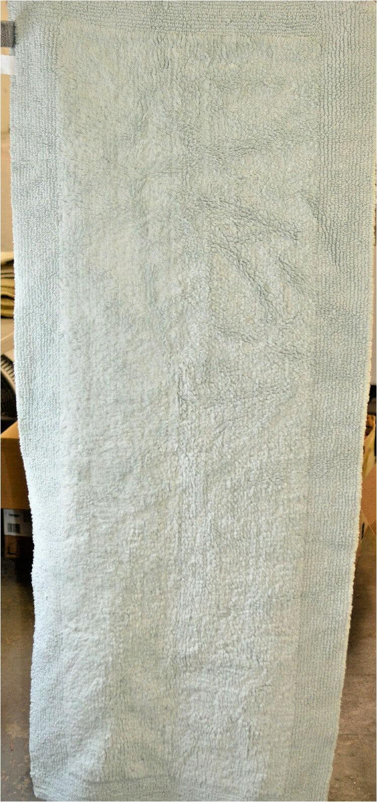 "Wamsutta Reversible Cotton Bath Rugs Wamsutta Ultra Fine Reversible 24"" X 60"" Bath Rug In Seafoam"
