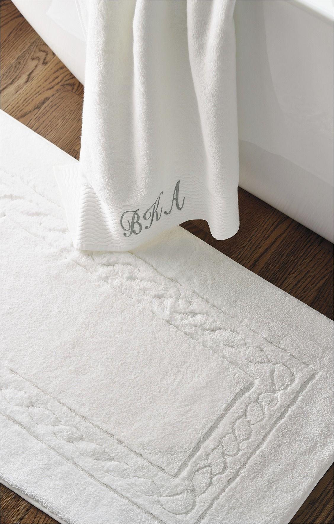 White Bath Rugs Cotton Egyptian Cotton Skid Resistant Bath Rug