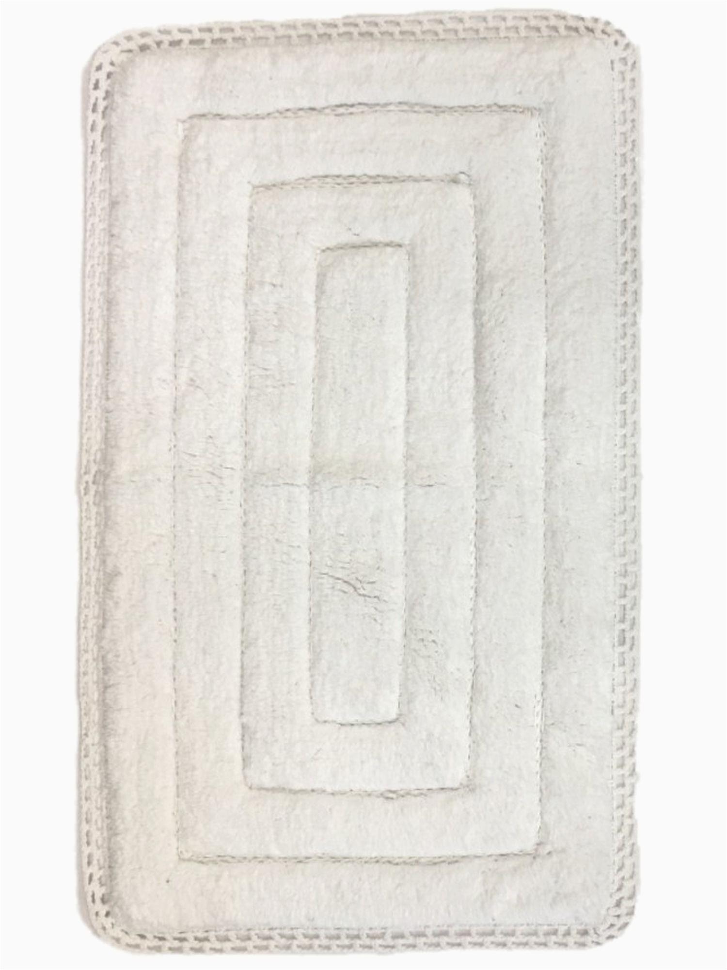 White Bath Rugs Cotton Threshold Plush White Bath Rug with Crochet Edge Cotton Bath Mat 20×32 Walmart