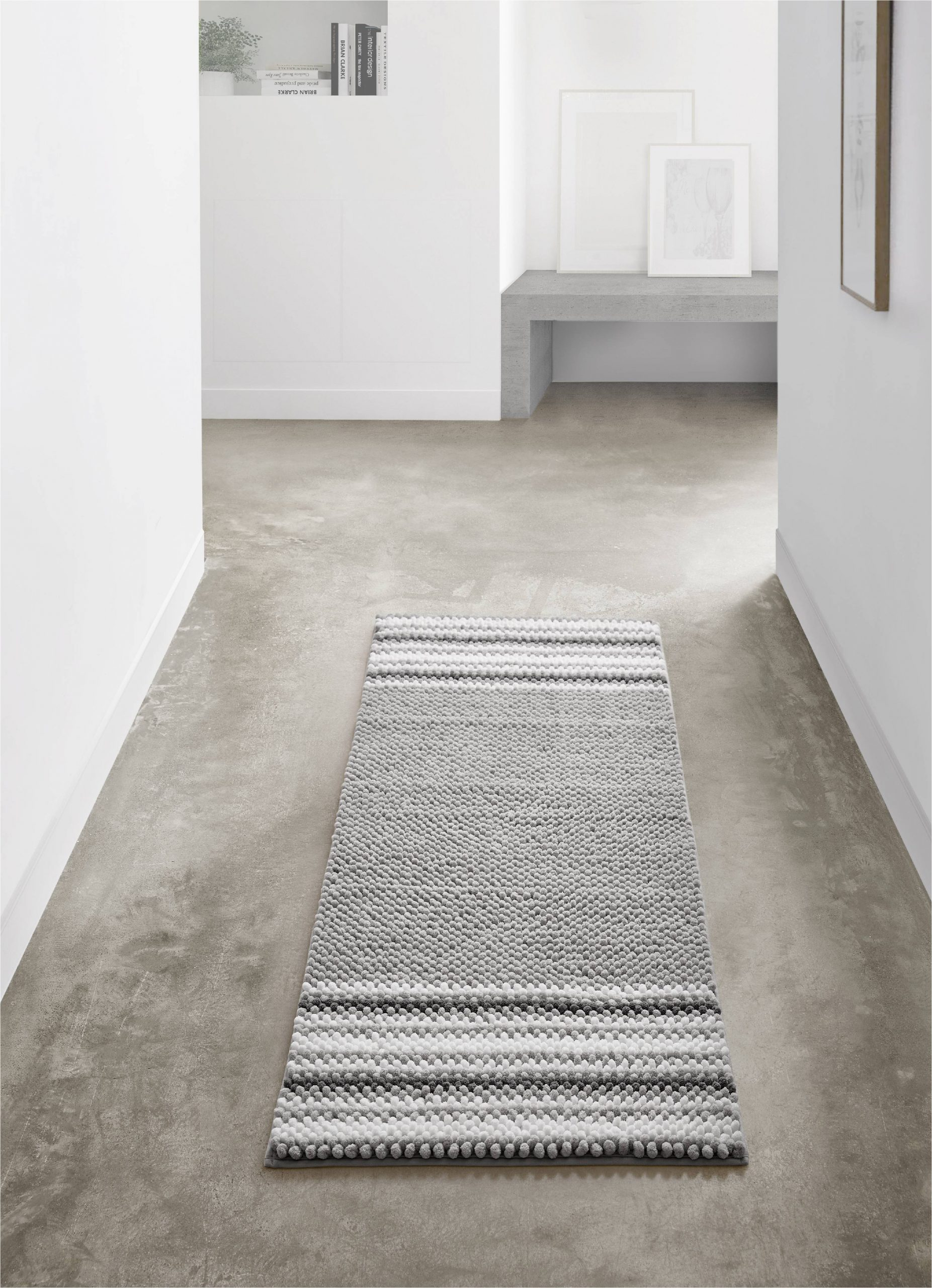 24 X 60 Bathroom Rug Vcny Home Aiden Jacquard Chenille Noodle Bath Runner 24 X 60 Taupe