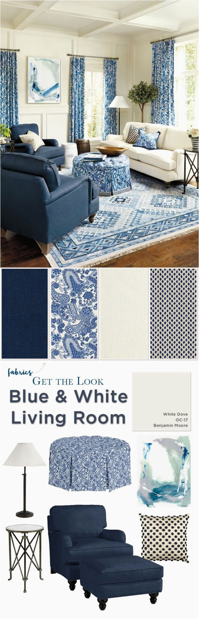 Ballard Designs Rugs Blue Create A Blue & White Living Room