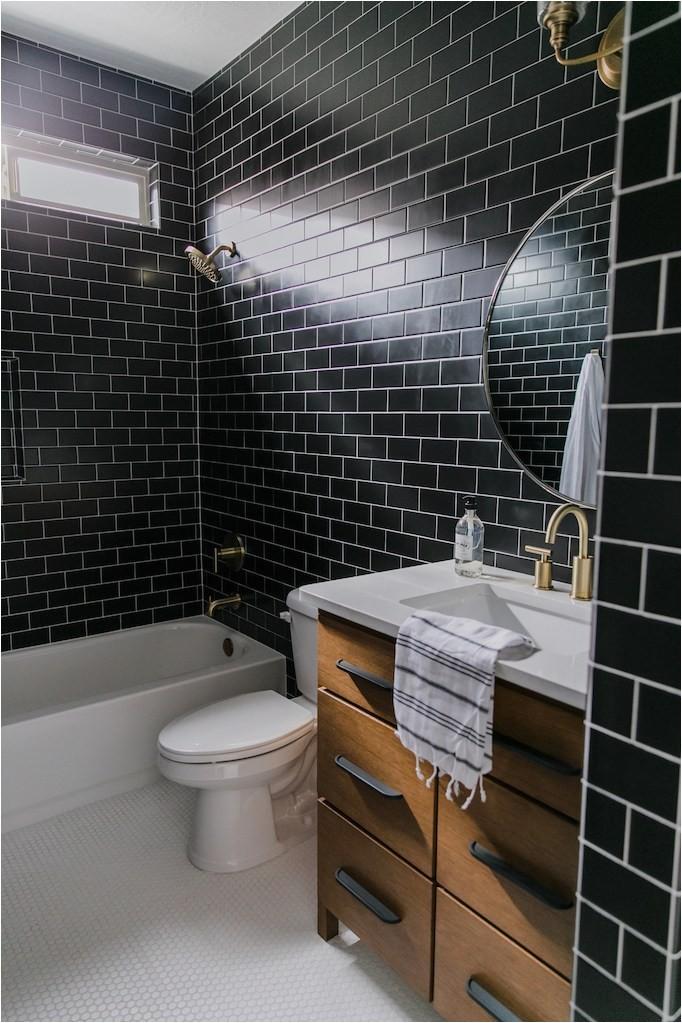 black tile bathroom Becki Owens 316