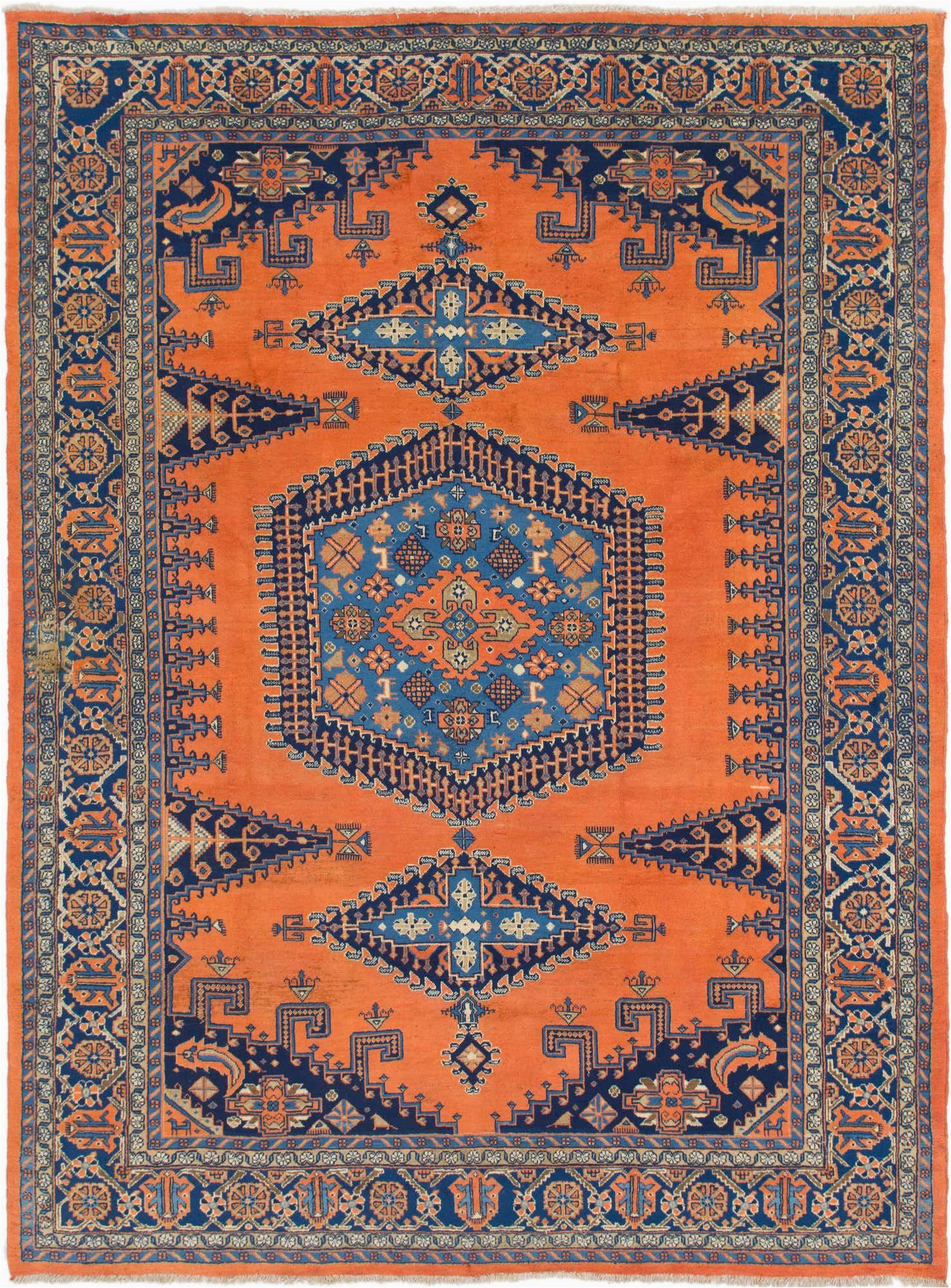 orange 8x11 viss persian rug