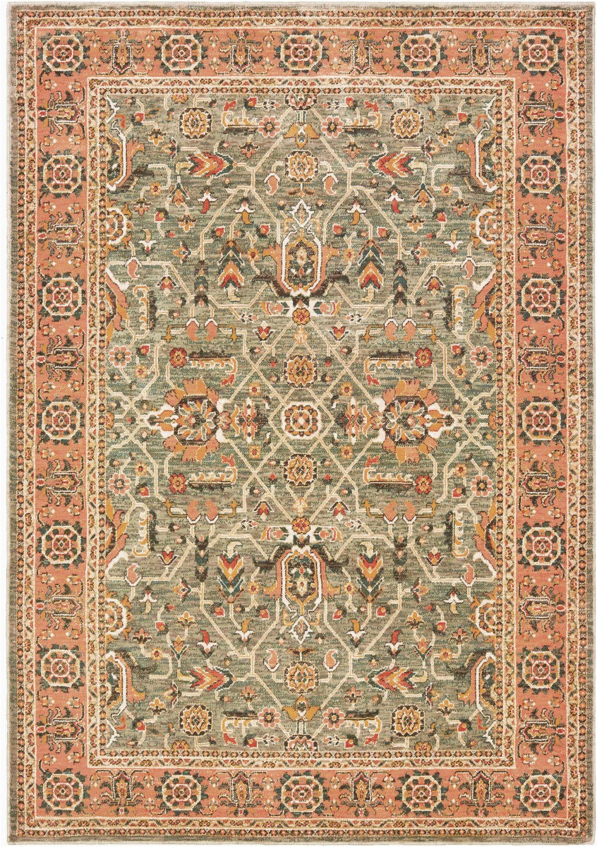 oriental weavers toscana 9537b blue orange area rugx