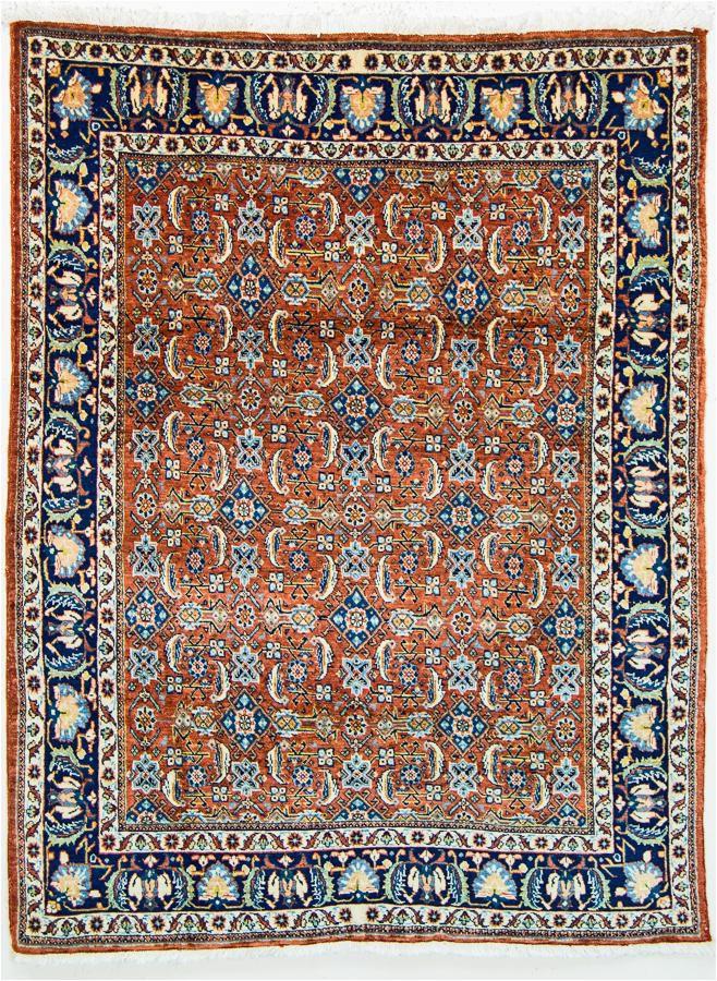 oriental rugs tehran tribal persian wool rug orange blue bo2