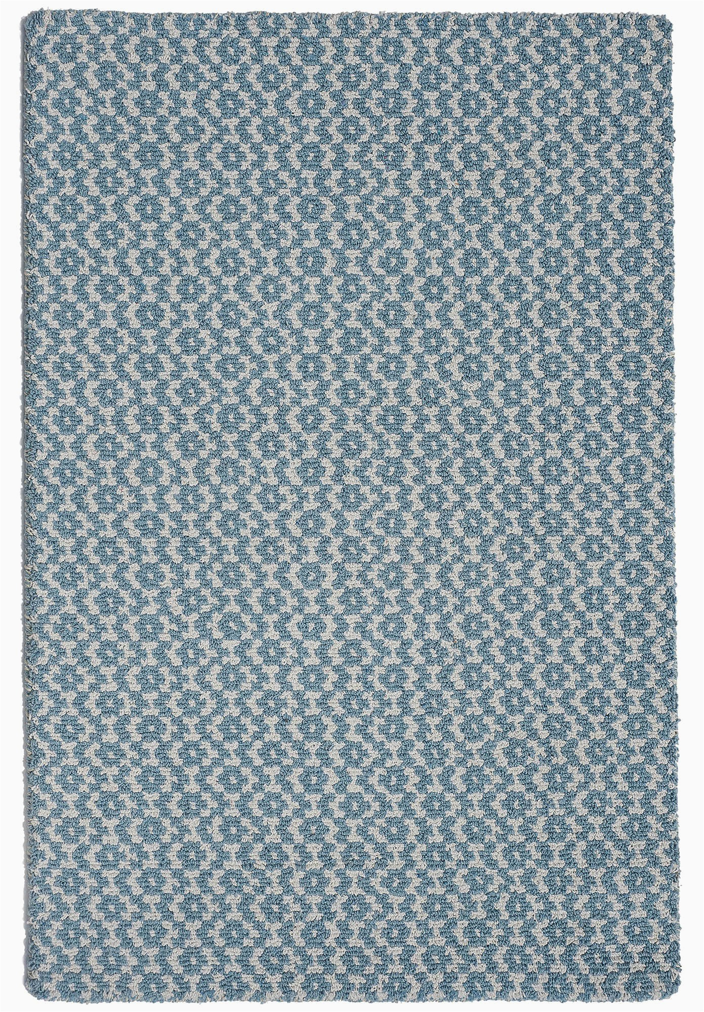 toulouse blue white eco cotton loom hooked rug 023