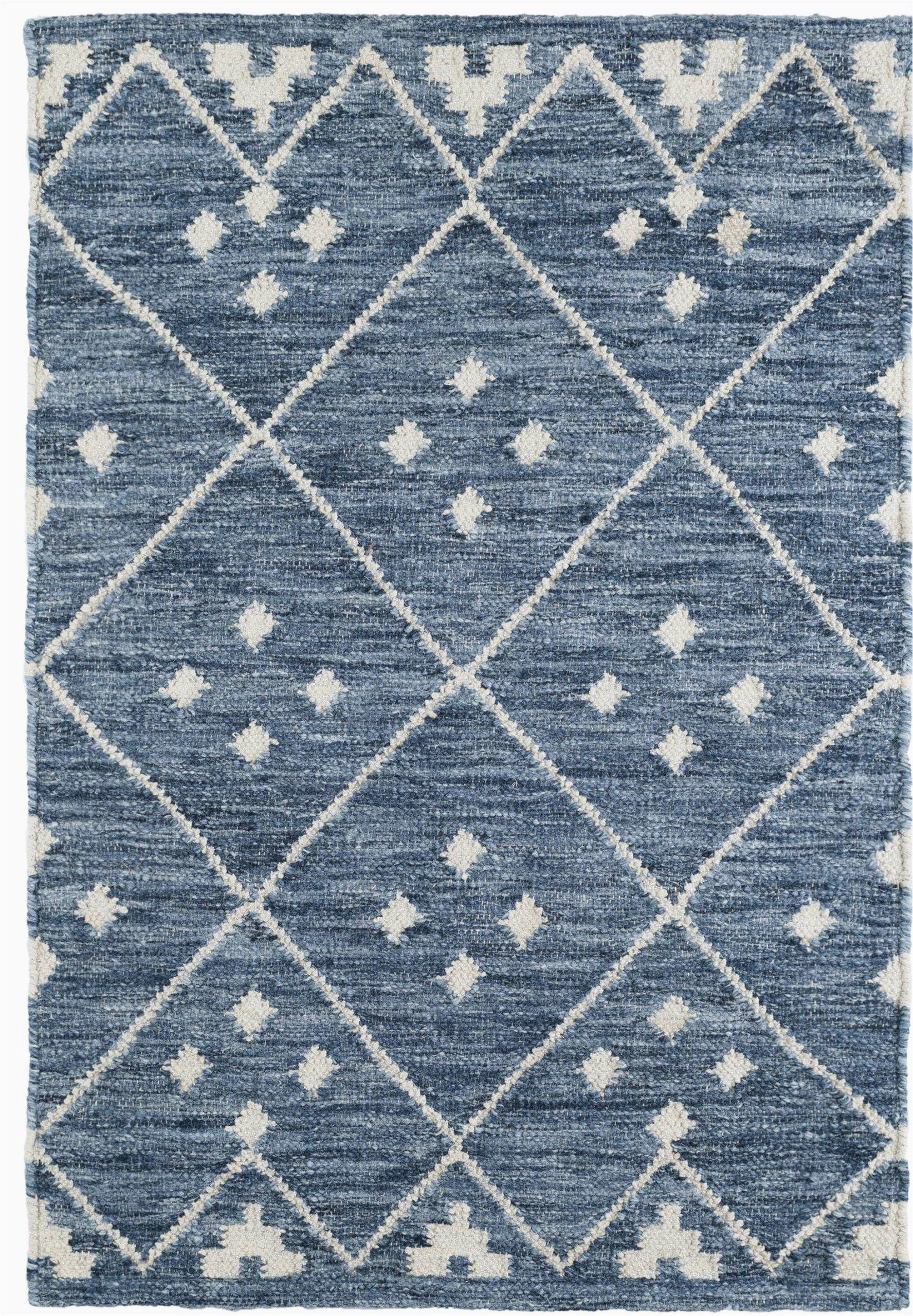 kota geometric handmade kilim bluewhite area rug