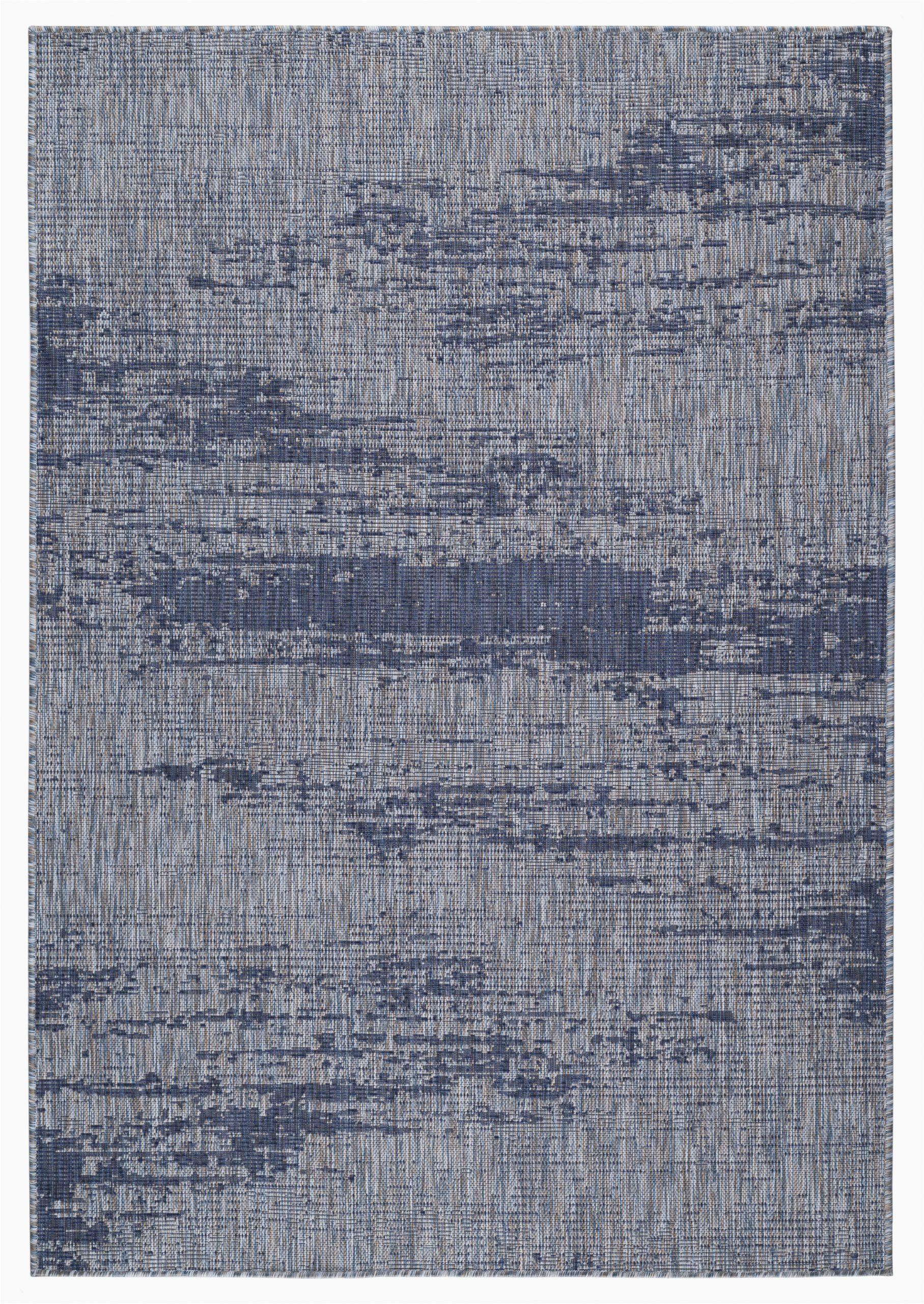 rubinstein abstract bluegray indoor outdoor area rug