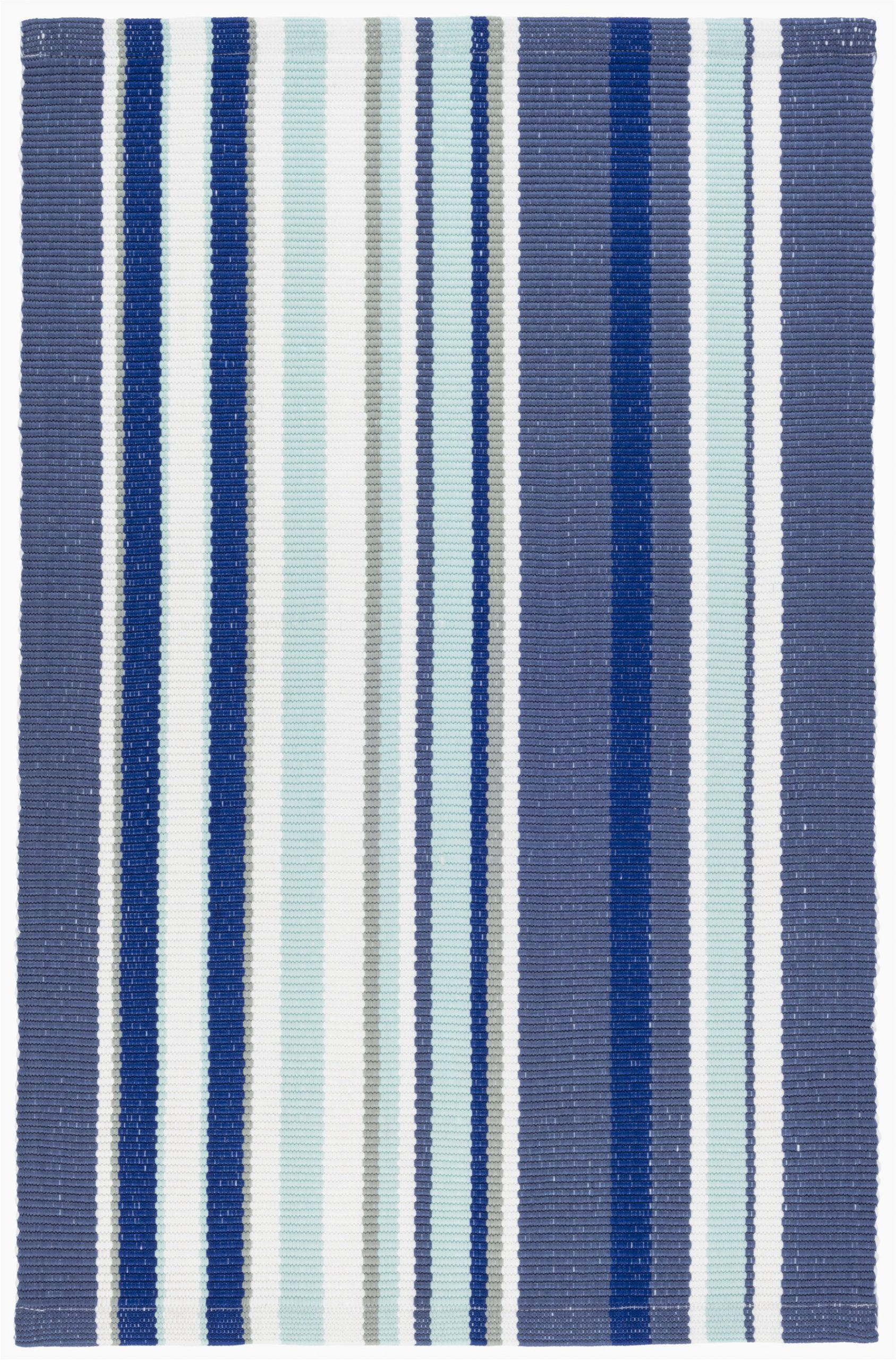 skyler striped handmade flatweave blue indooroutdoor area rug