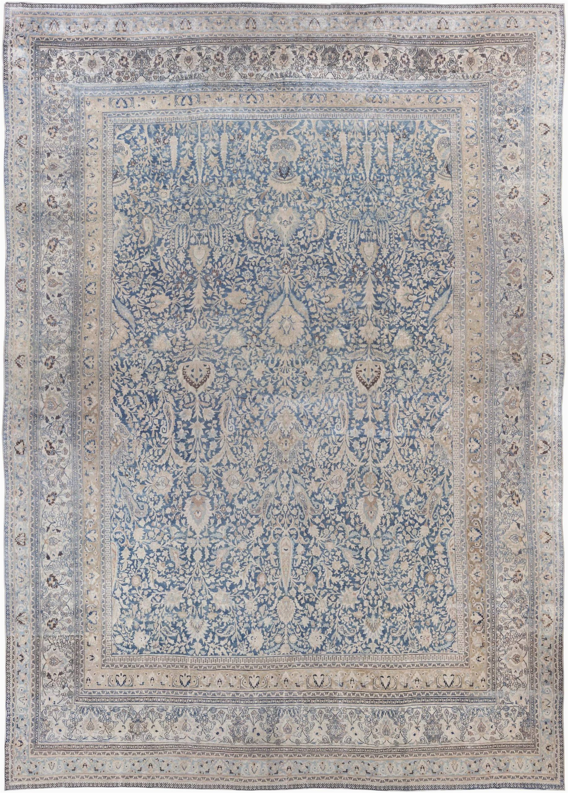 antique rugs persian khorassan blue floral abstract 23x16 bb6791