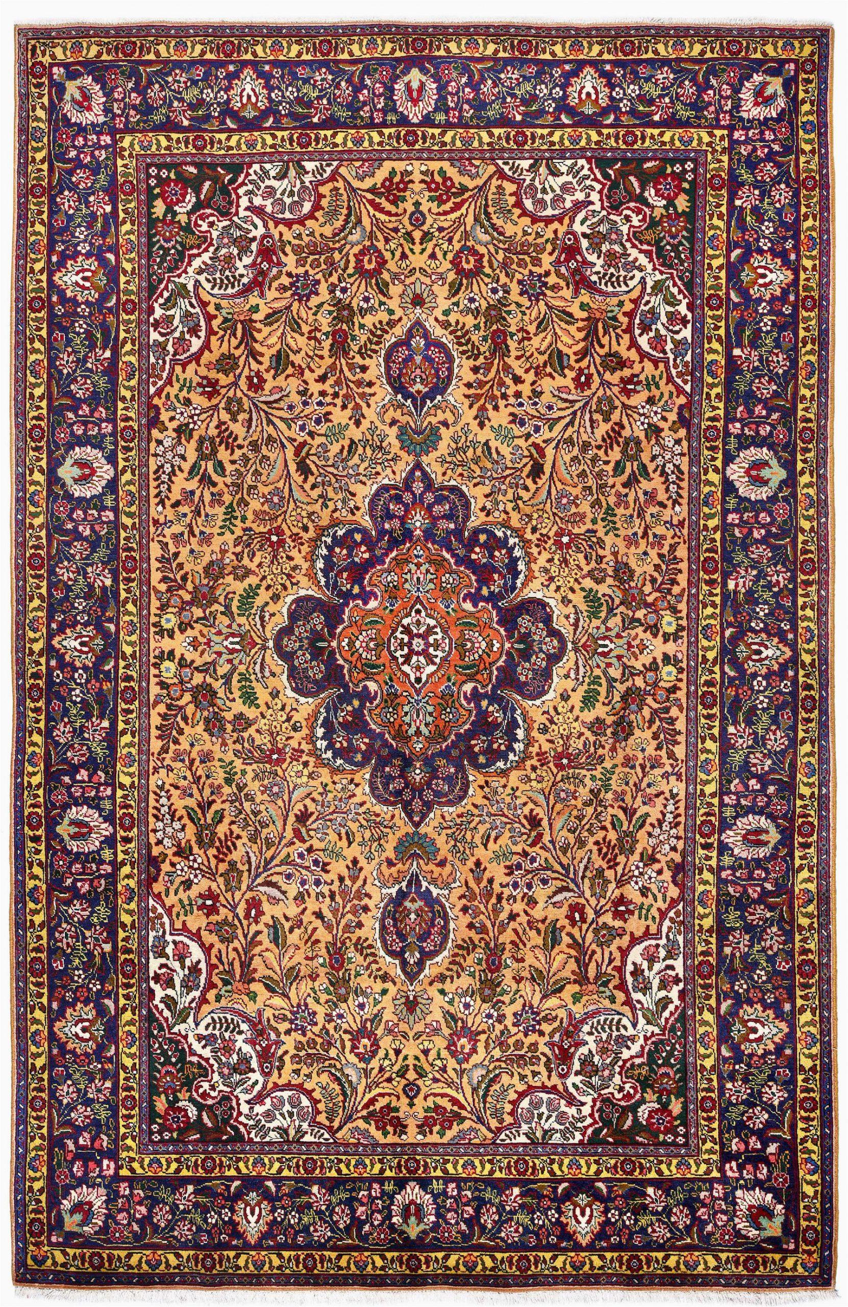 golden tabriz rug gold persian carpet for sale 2x3m dr401