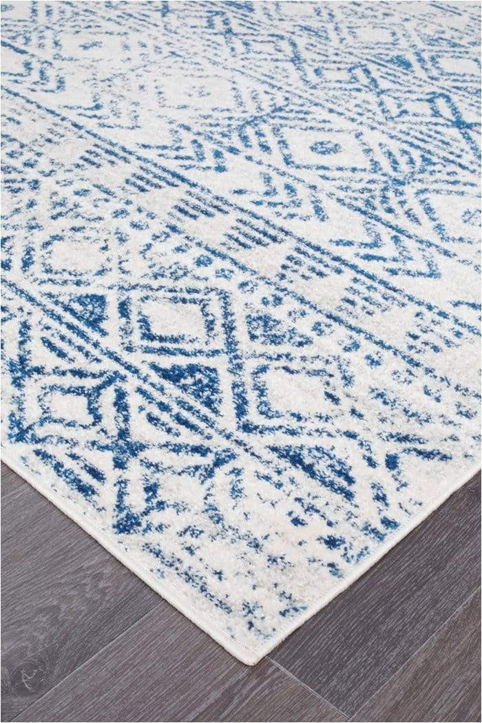 braga ivory cobalt blue tribal pattern rug cnr 1024x