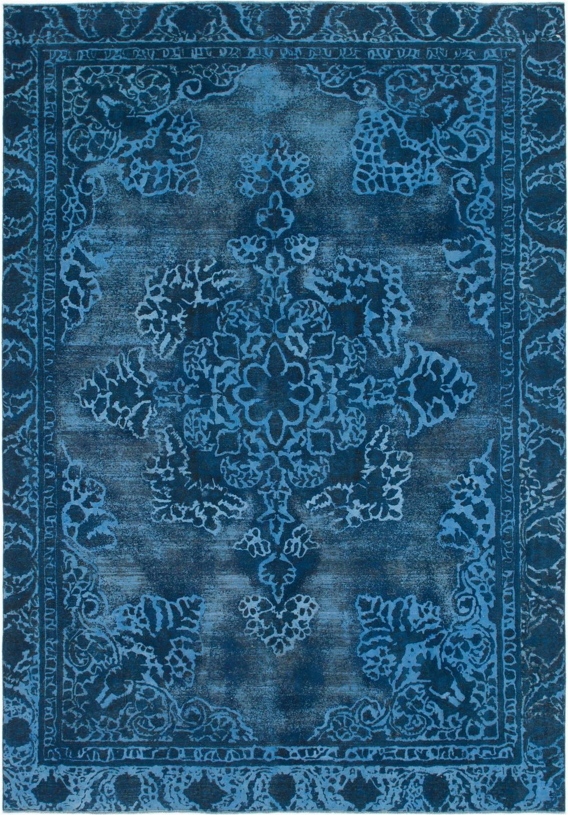 dark blue 9x12 ultra vintage persian rug