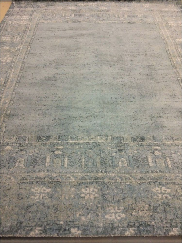 Kailee Printed Rug Porcelain Blue Pottery Barn Kailee Printed Wool Rug 9×12 New W Tags