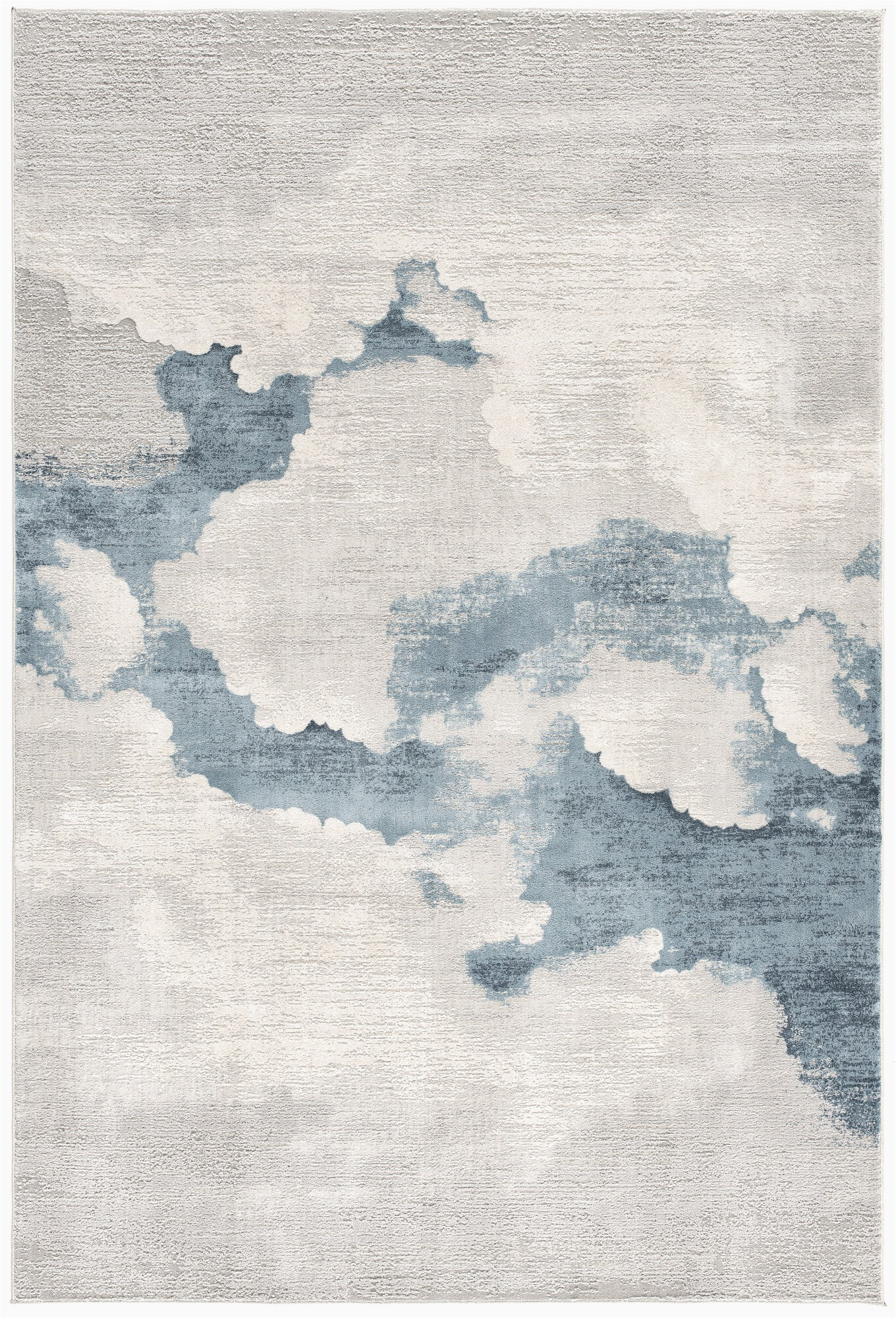 kraus modern abstract creamlight blue area rug