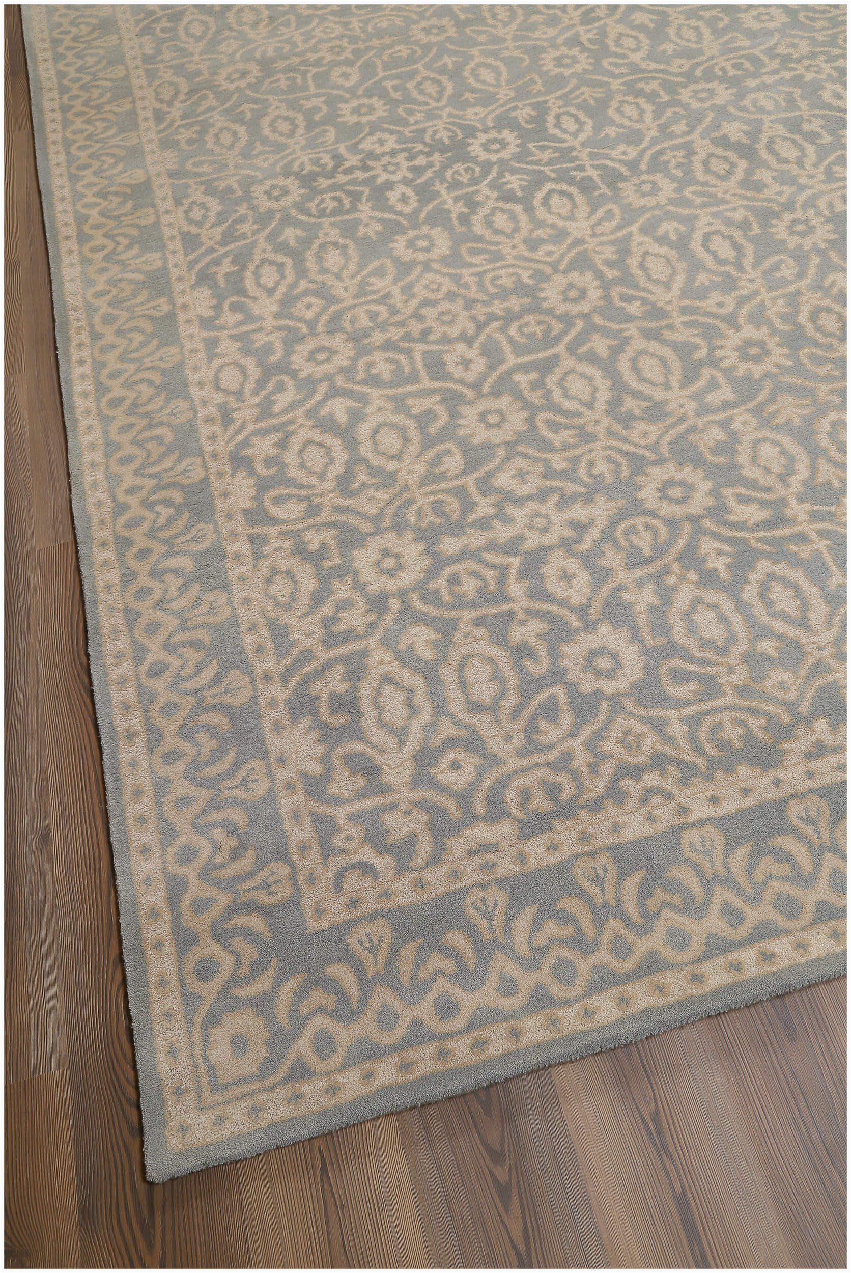 rugsville tufted contemporary wool light blue rug 8x10