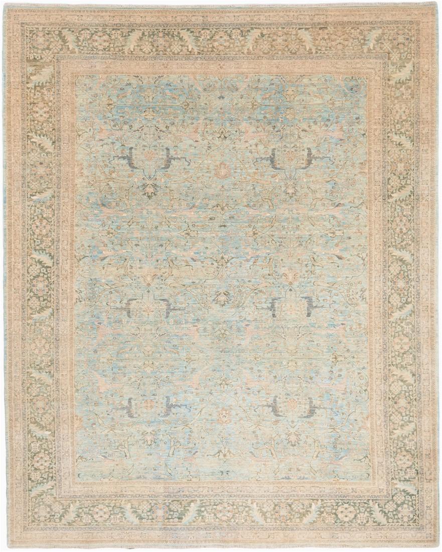 Super Fine Farahan Light Blue Wool Rug 93x115 Afghanistan 1