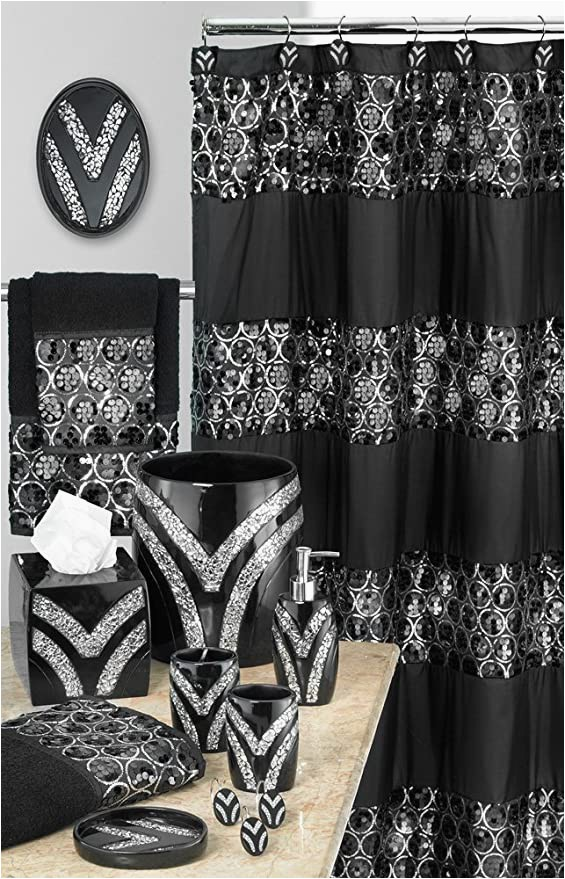 Matching Bath towel and Rug Sets Amazon Designer Home 13 Piece Full Bath Accessories