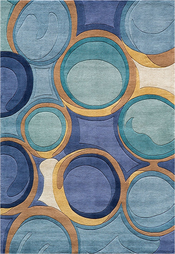 New Wave NW 133 Blue Momeni Area Rug p 4754