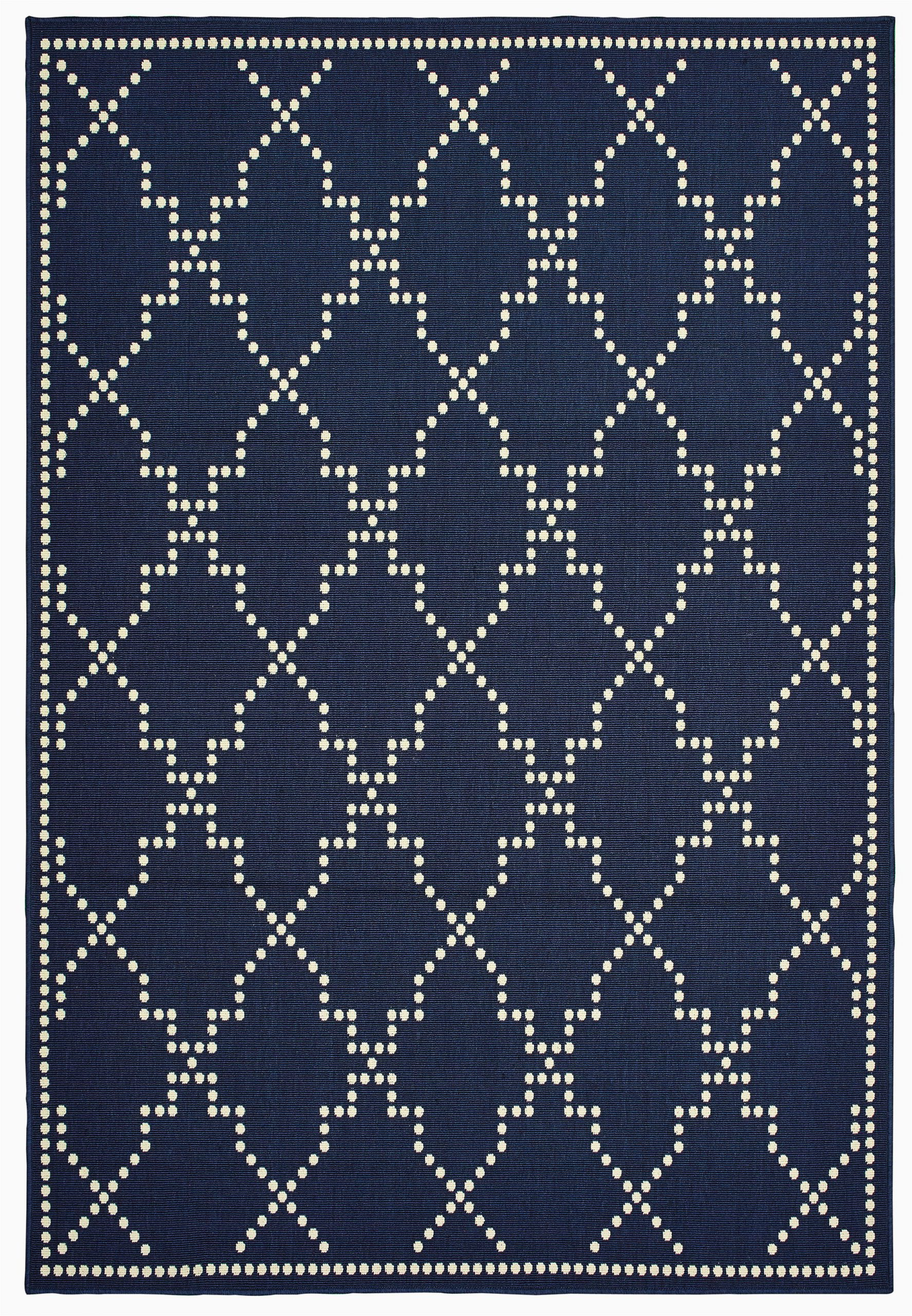 mercer41 castano casual navy indooroutdoor area rug w