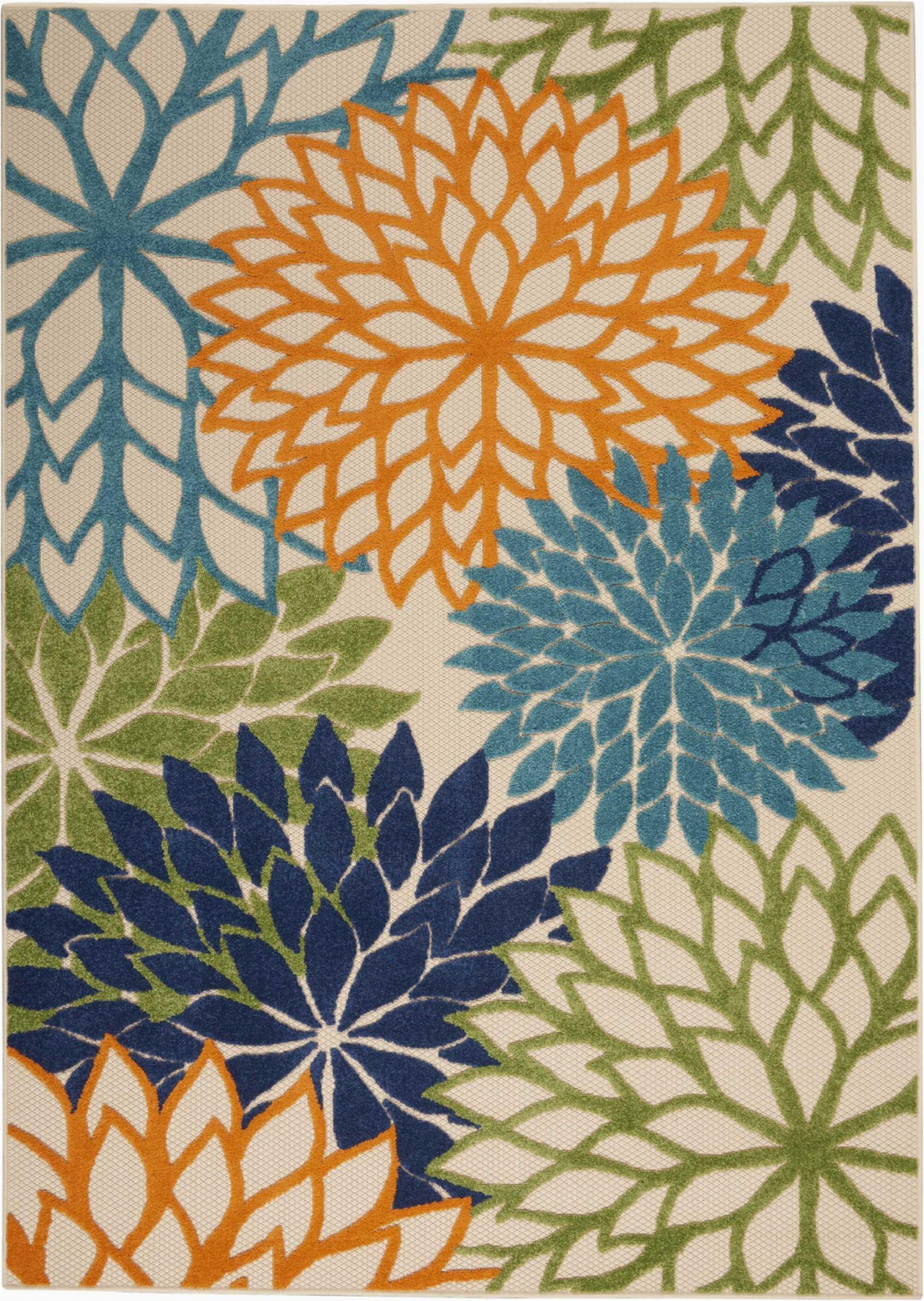 nathalie greenblueorange rug