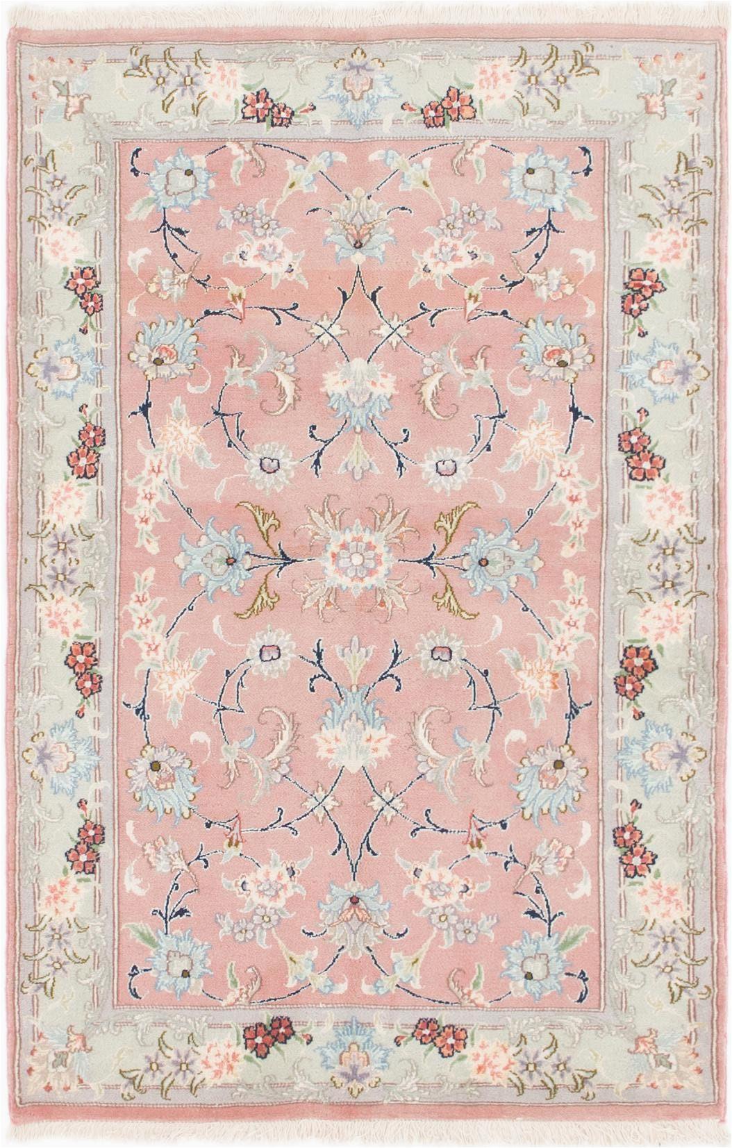 pink 4x6 tabriz persian rug