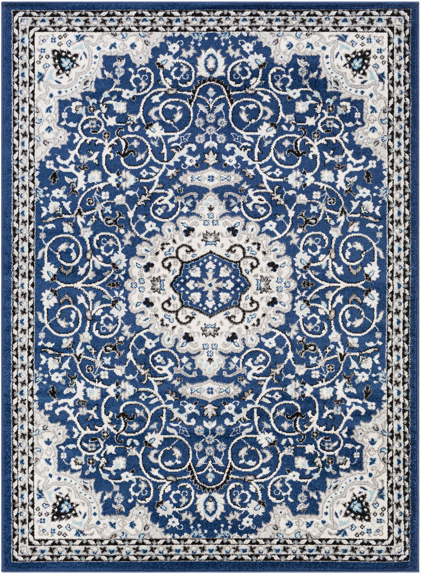 parkhur oriental dark blue area rug