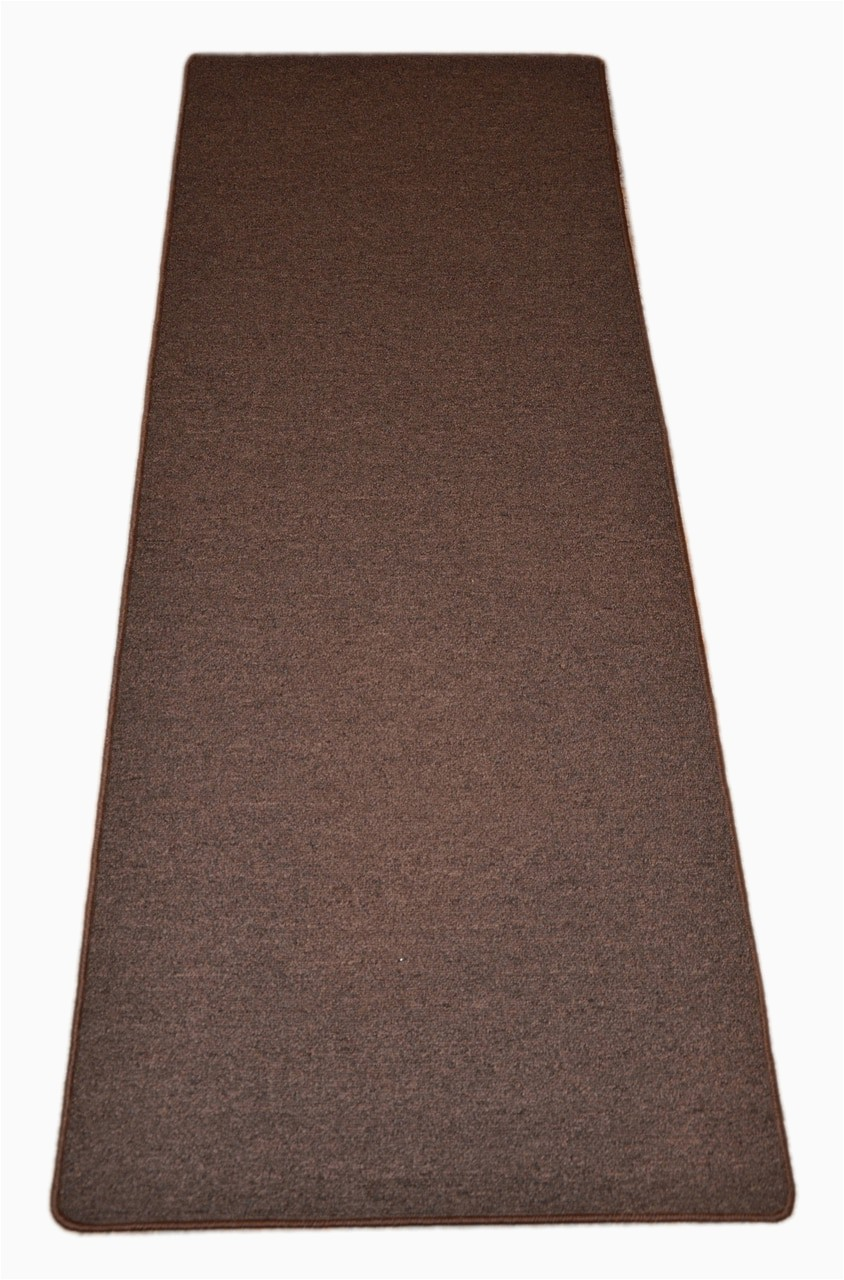 dean urban legend brown washable non slip carpet kitchen bath door mat landing runner rug sold in custom lengths by the linear foot 27 inches wide