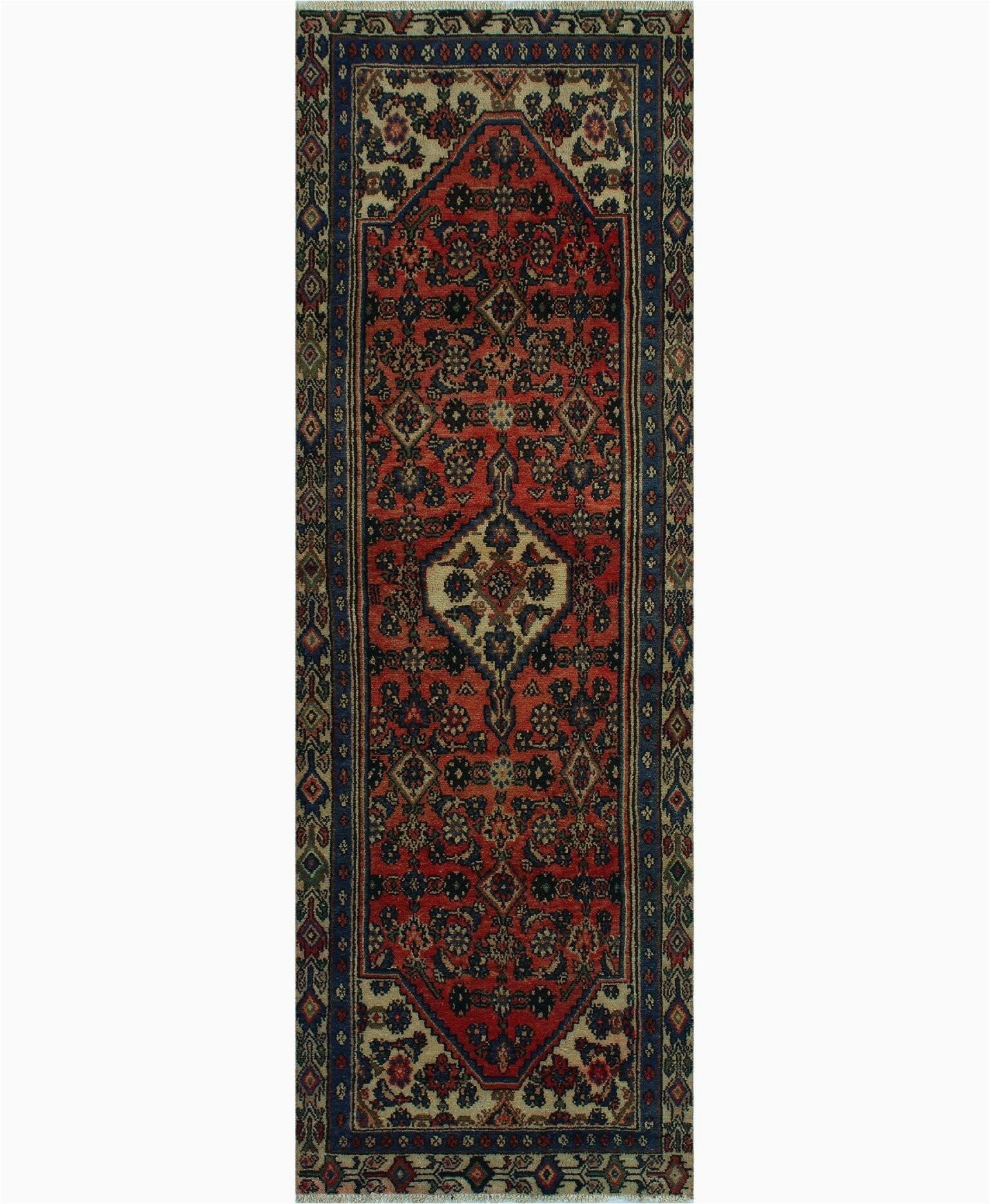 world menagerie one of a kind griselde hand knotted 31 x 92 wool redbeige area rug w