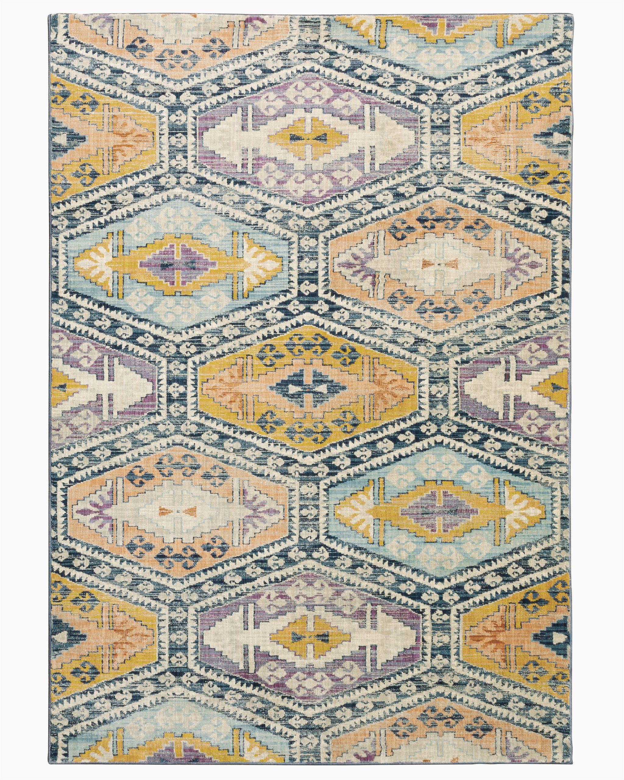 bungalow rose emme geometric blueyellowpurple area rug w piid=
