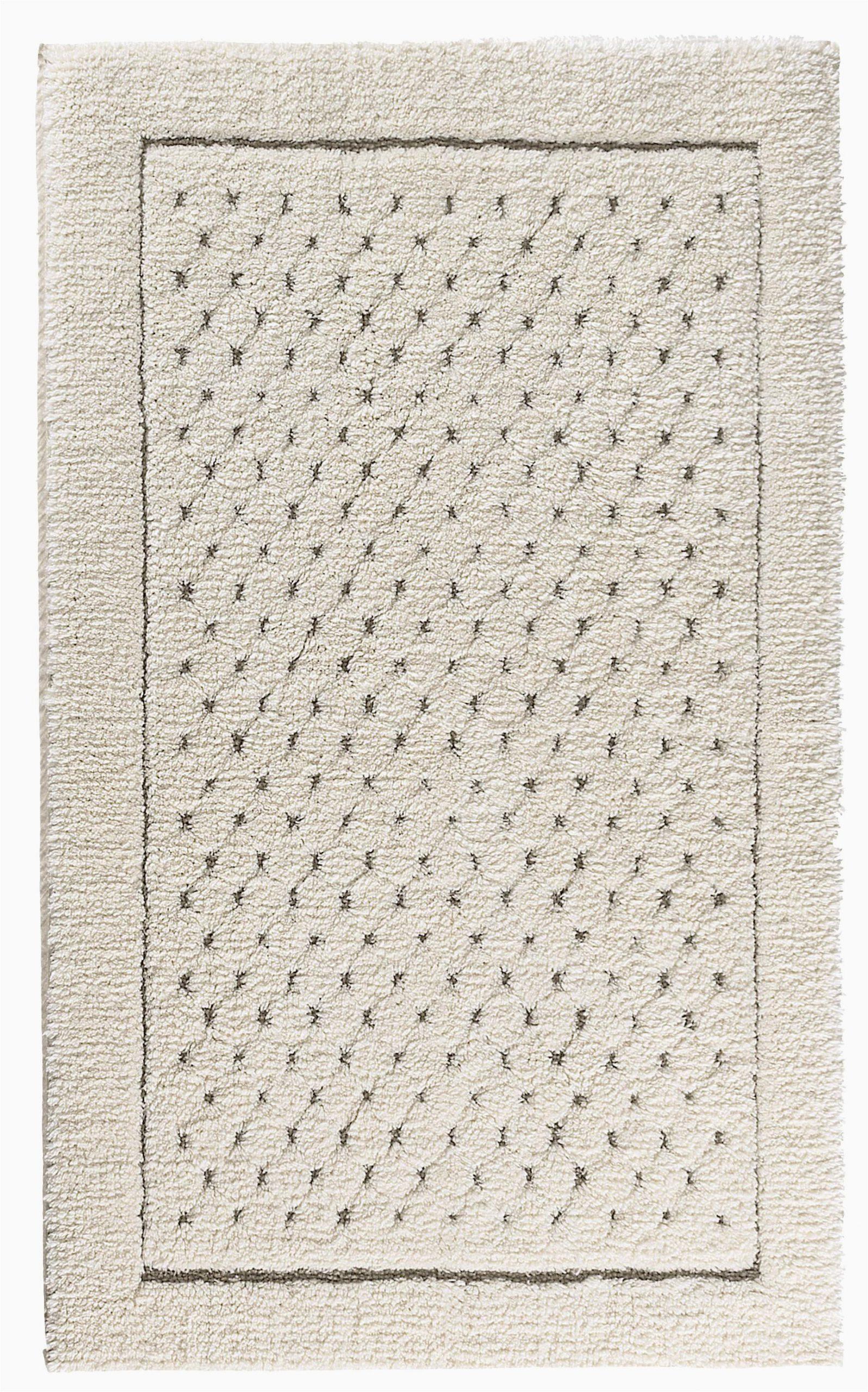 graccioza bio luxury linen waffle bath rug