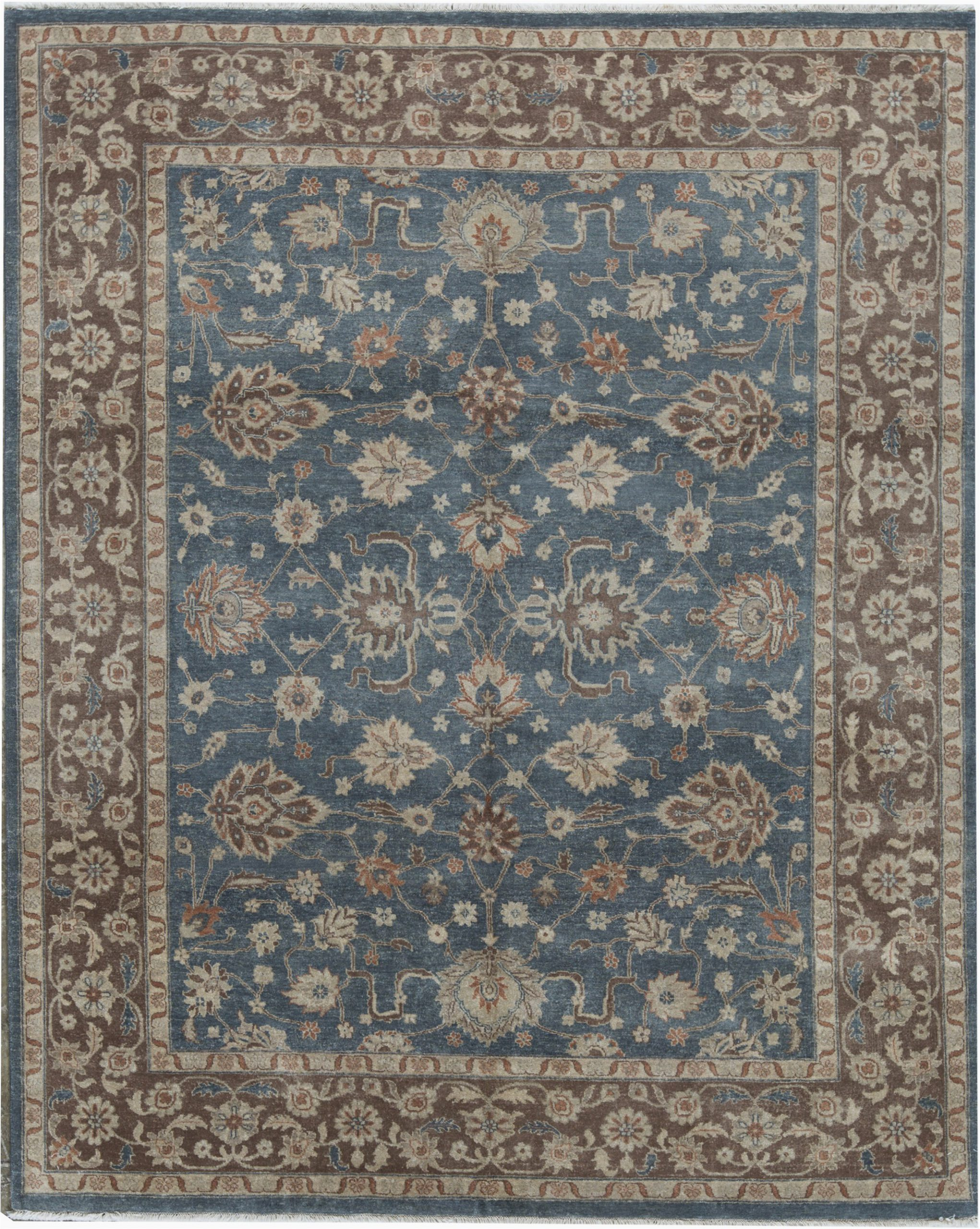 bokara rug co inc cornwall oriental hand knotted 8 x 10 wool bluebrown area rug abib5698