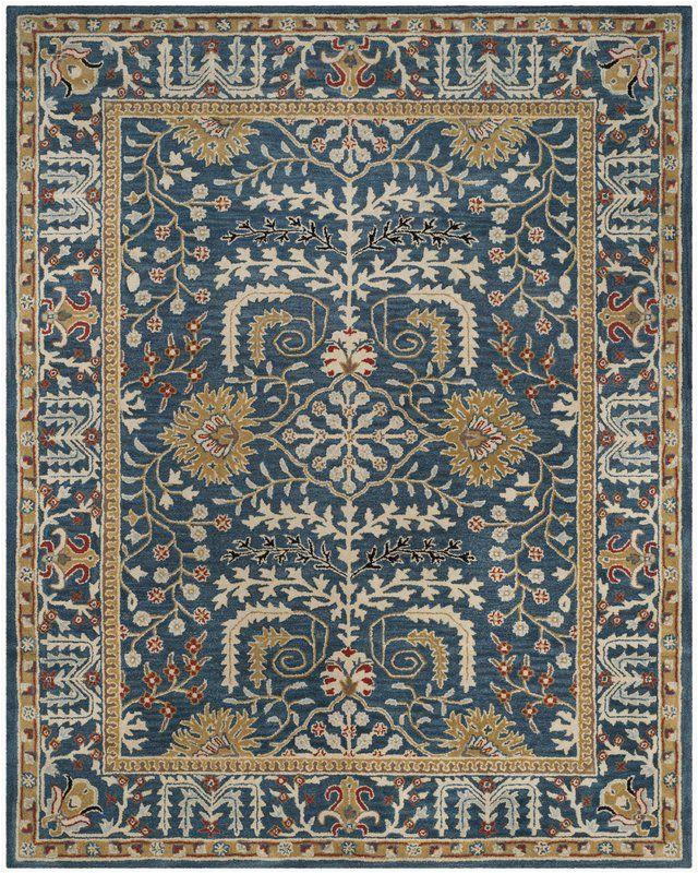 Wayfair Rugs 8×10 Blue World Menagerie Genemuiden Hand Tufted Dark Blue area Rug