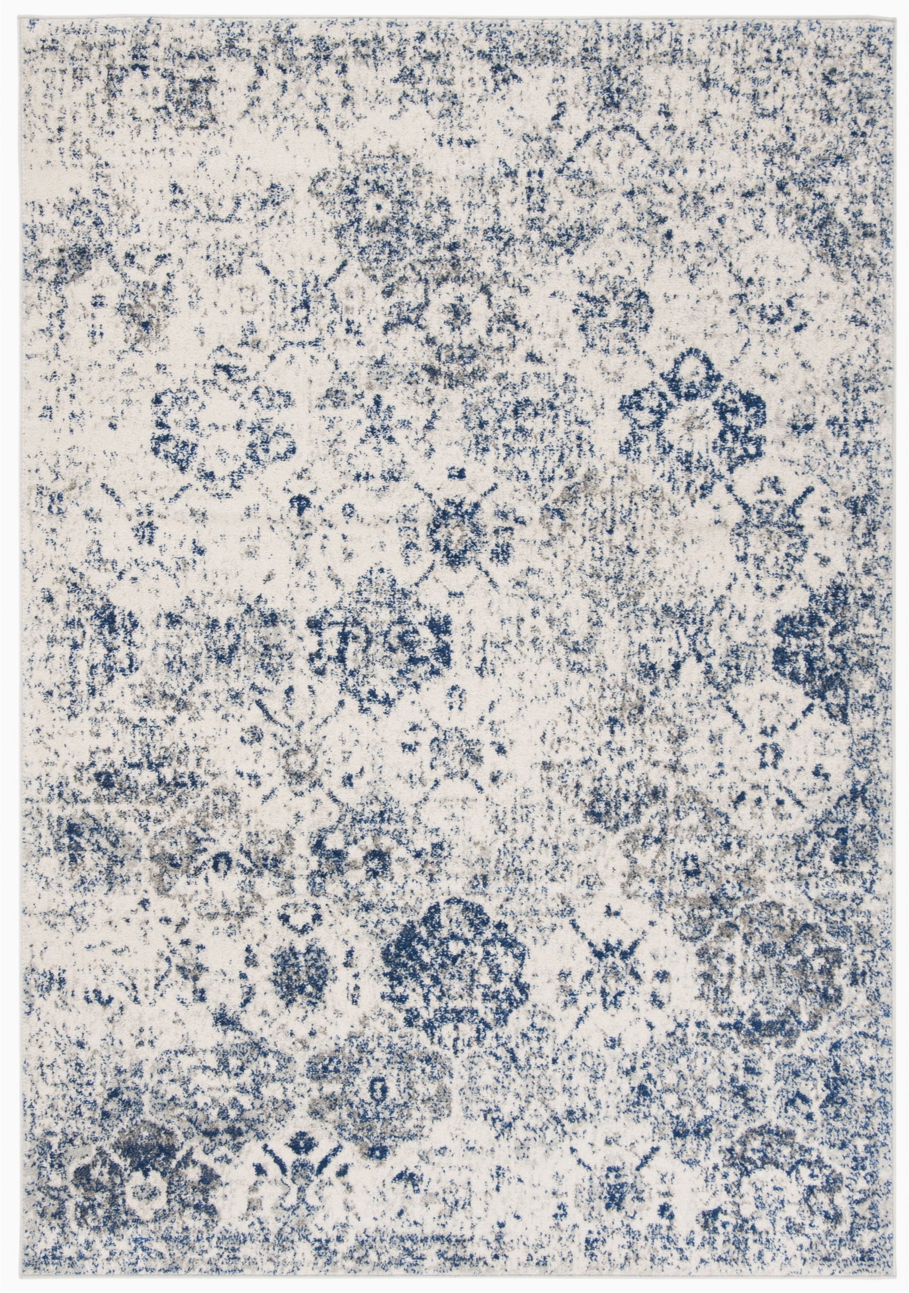 Wayfair Rugs Blue and White Ophelia & Co Macy oriental White Royal Blue area Rug