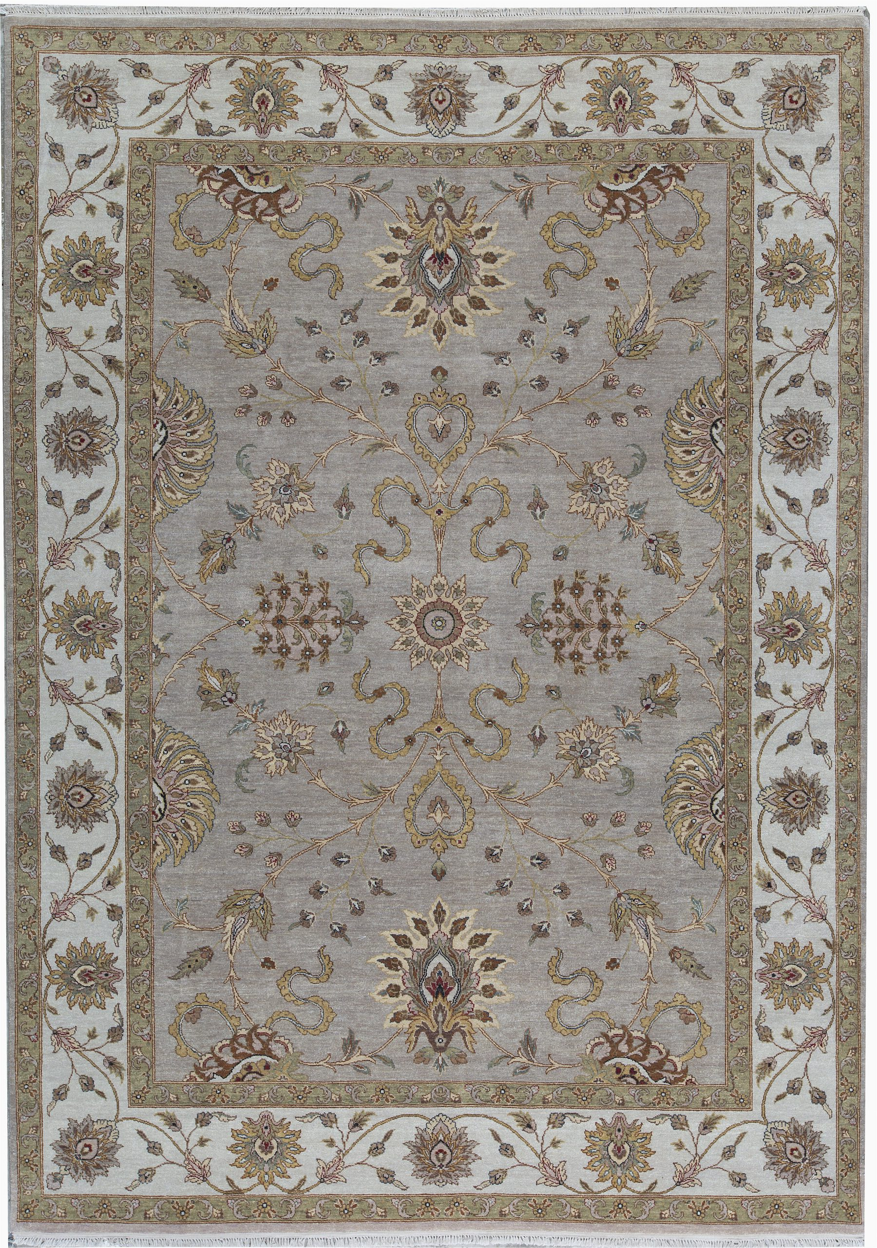 bokara rug co inc one of a kind cornwall hand knotted 911 x 1310 wool silver area rug abhd7114