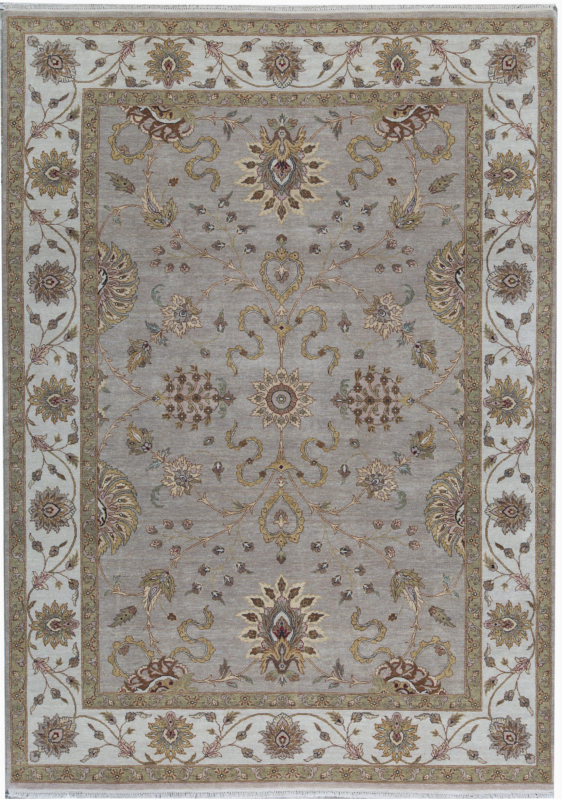 bokara rug co inc one of a kind cornwall hand knotted 911 x 1310 wool silver area rug abhd7114