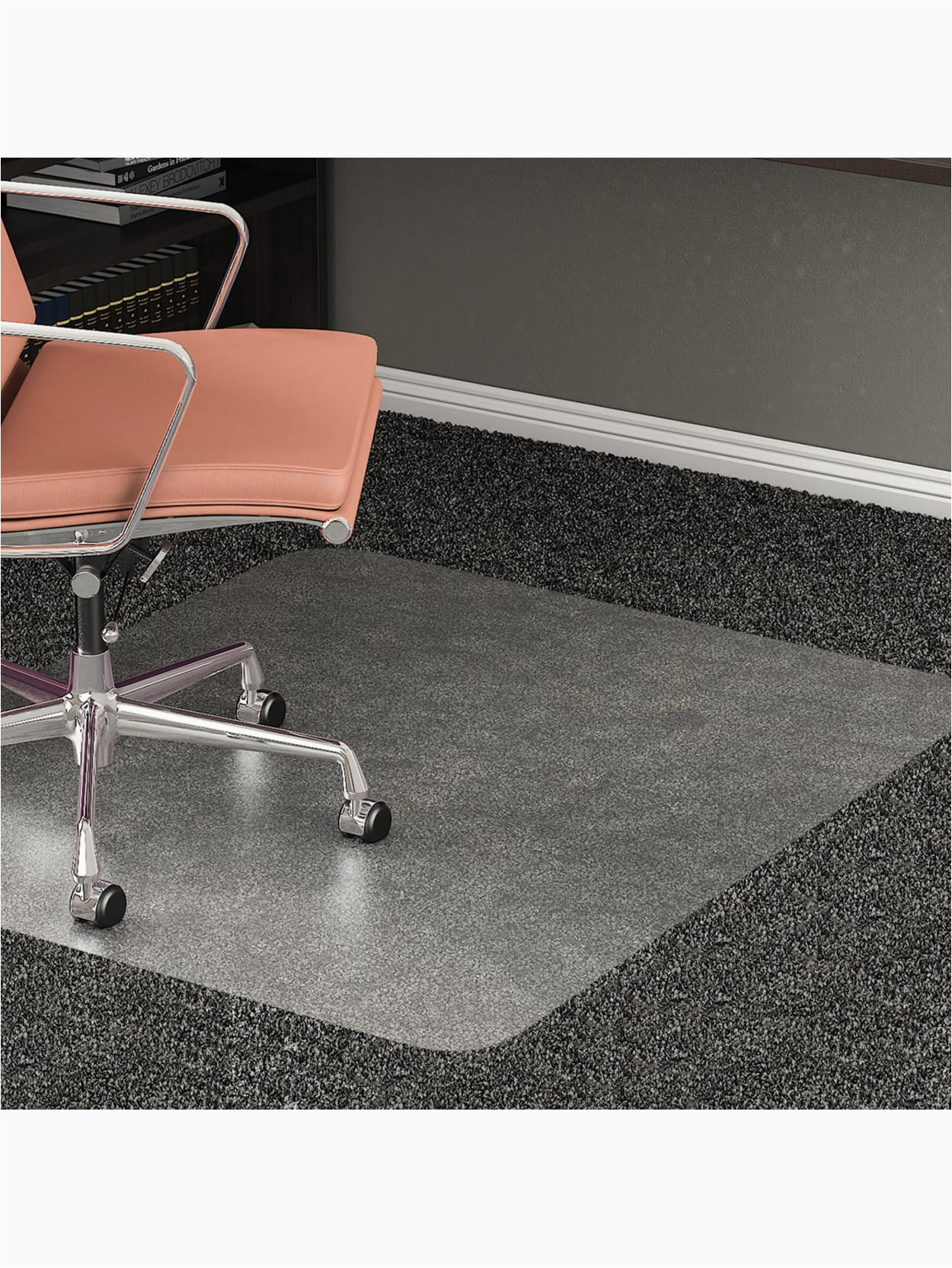 p realspace all pile studded chair mat