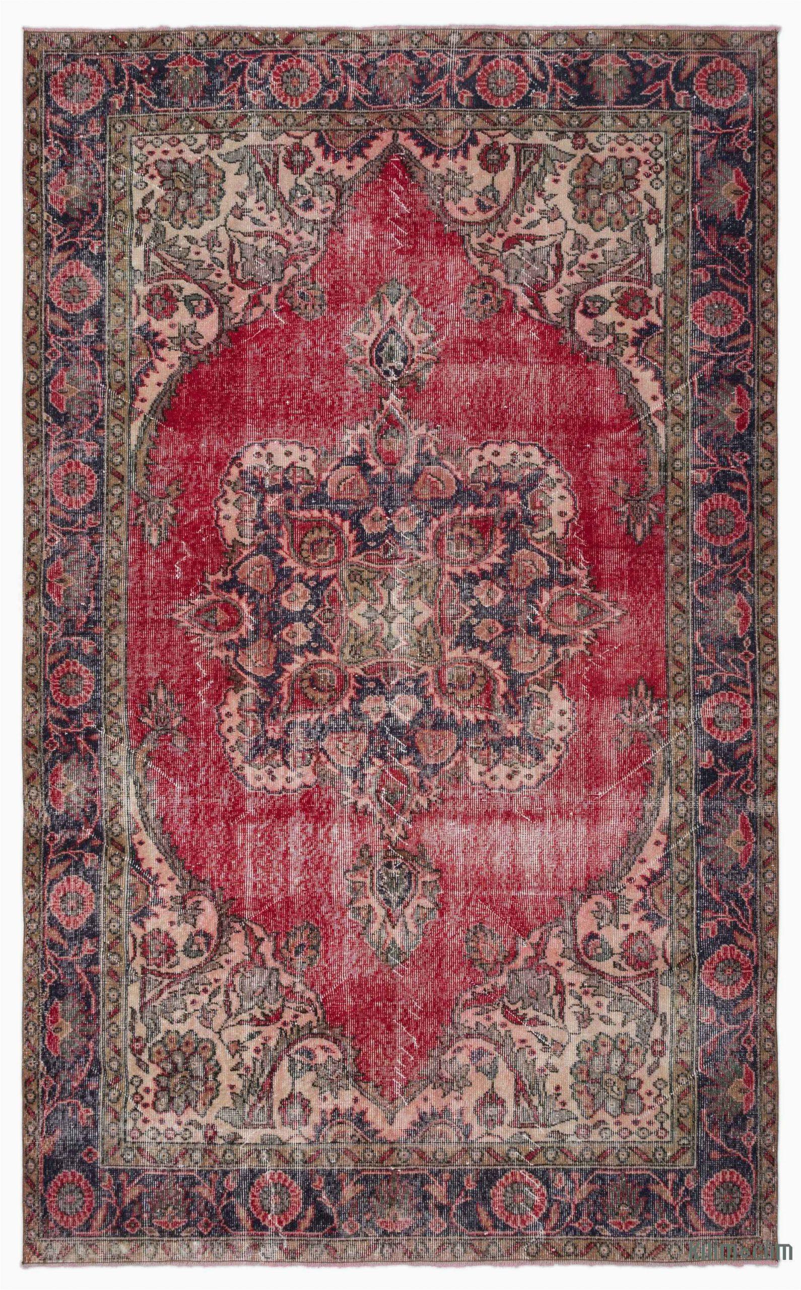 k turkish vintage area rug