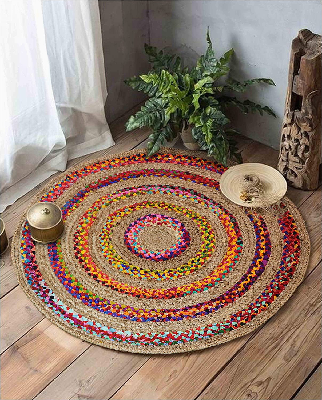 copy of bohemian living room round area rug carpet 5 x 5 feet on sale