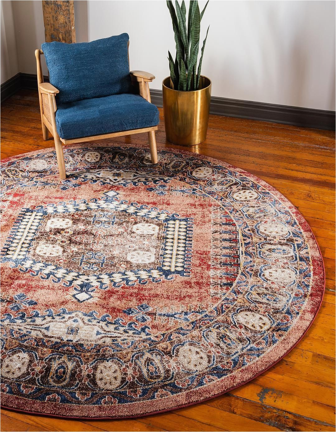 48 Inch Round area Rugs Terracotta 8 X 8 Arcadia Round Rug area Rugs